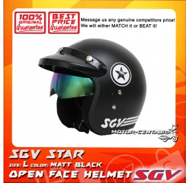 SGV HELMET STAR MATT BLACK
