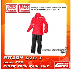 GIVI RAINSUIT RRS04 S RED