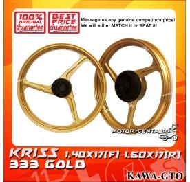 KAWA-GTO SPORT RIM 333 1.40X17(F) 1.60X17(R) KRISS GOLD