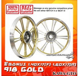 KAWA-GTO SPORT RIM 918 1.40X17(F) 1.60X17(R) E-BONUS GOLD