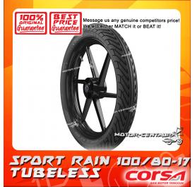 CORSA TUBELESS TYRE SPORT RAIN 100/80-17