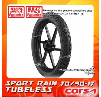 CORSA TUBELESS TYRE SPORT RAIN 70/90-17