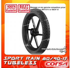 CORSA TUBELESS TYRE SPORT RAIN 80/90-17
