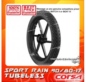 CORSA TUBELESS TYRE SPORT RAIN 90/80-17