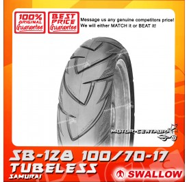 SWALLOW TUBELESS TYRE SB128 SAMURAI 100/70-17