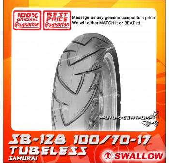 SWALLOW TUBELESS TYRE SB128 SAMURAI 100/70-17