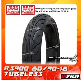 FKR TUBELESS TYRE RS900 80/90-18