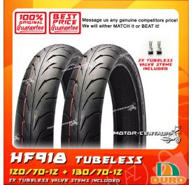 DURO TUBELESS TYRE HF918 120/70-12 + 130/70-12