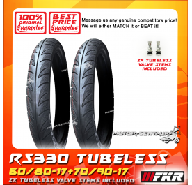 FKR TUBELESS TYRE D MONTE RS330 60/80-17 + 70/90-17