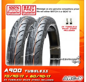 ARC-V TUBELESS TYRE A900 70/90-17 + 80/90-17