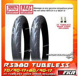 FKR TUBELESS TYRE D MONTE2 RS380 70/90-17 + 80/90-17