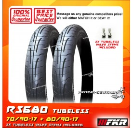 FKR TUBELESS TYRE GRANDE RS680 70/90-17 + 80/90-17