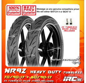 IRC TUBELESS TYRE NR92 70/90-17 + 80/90-17