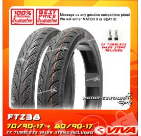 VIVA TUBELESS TYRE FT238 70/90-17 + 80/90-17