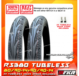 FKR TUBELESS TYRE RS380 80/90-14 + 90/90-14
