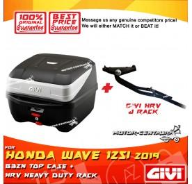 GIVI B32N TOP CASE + GIVI HONDA WAVE 125I 2019 HRV HEAVY DUTY RACK