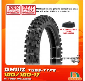 DURO TUBELESS TYRE DM1112 100/100-17 WITH FKR TUBE