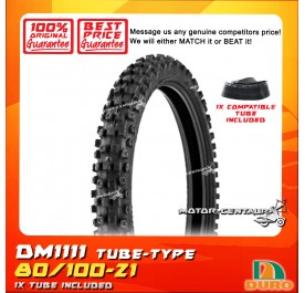 DURO TUBELESS TYRE DM1111 80/100-21 WITH FKR TUBE