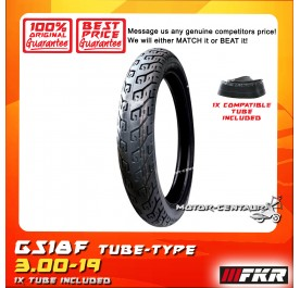 FKR TYRE GS18F 3.00-19 WITH FKR TUBE