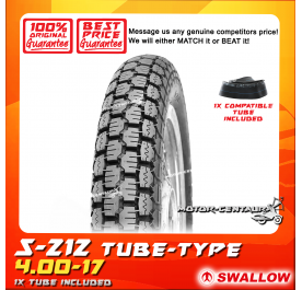 SWALLOW TYRE S-212 4.00-17 WITH FKR TUBE