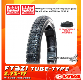 VIVA TYRE FT321 2.75-17 WITH FKR TUBE