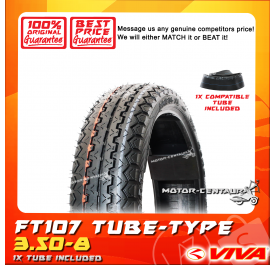VIVA TYRE FT107 3.50-8 WITH ORS TUBE
