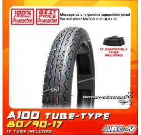 ARC-V TYRE A100 80/90-17 WITH FKR TUBE