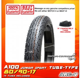 ARC-V TYRE A100 JUNIOR SPORT 80/90-17 WITH FKR TUBE