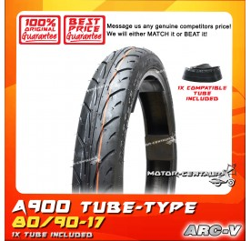 ARC-V TYRE A900 80/90-17 WITH FKR TUBE