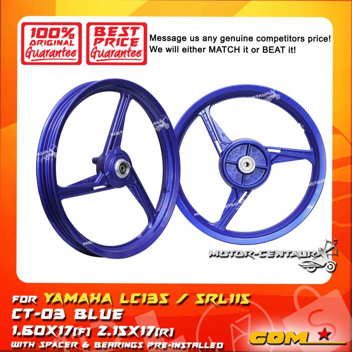 COMSTAR SPORT RIM CT-03 1p60X17(F) 2p15X17(R) LC135 BLUE