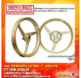 COMSTAR SPORT RIM CT-03 1.60X17(F) 1.85X17(R) LC135 GOLD