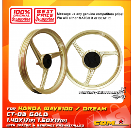 COMSTAR SPORT RIM CT-03 1.60X17(F) 1.60X17(R) WAVE100 GOLD