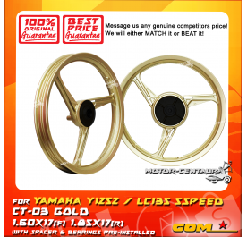 COMSTAR SPORT RIM CT-03 1.60X17(F) 1.85X17(R) Y125Z GOLD
