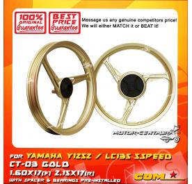 COMSTAR SPORT RIM CT-03 1.60X17(F) 2.15X17(R) Y125Z GOLD