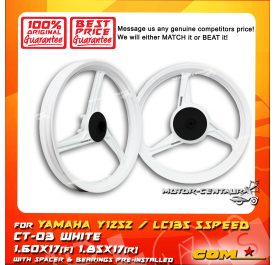 COMSTAR SPORT RIM CT-03 1.60X17(F) 1.85X17(R) Y125Z WHITE