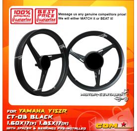 COMSTAR SPORT RIM CT-03 1.60X17(F) 1.85X17(R) Y15ZR (125Z) BLACK
