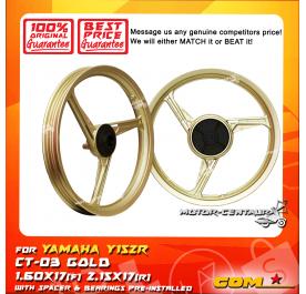 COMSTAR SPORT RIM CT-03 1.60X17(F) 2.15X17(R) Y15ZR (125Z) GOLD