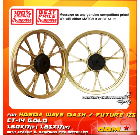 COMSTAR SPORT RIM CT-14 1.60X17(F) 1.85X17(R) WAVE DASH GOLD
