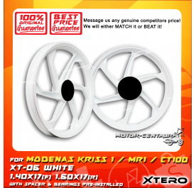 XTERO SPORT RIM XT-06 1.40X17(F) 1.60X17(R) KRISS 1 WHITE