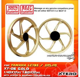 XTERO SPORT RIM XT-06 1.40X17(F) 1.60X17(R) LC135 GOLD