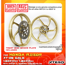 XTERO SPORT RIM W/FR DISC BRAKE PLATE XT-06 1.60X17(F) 1.85X17(R) RS150R GOLD