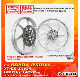 XTERO SPORT RIM W/FR DISC BRAKE PLATE XT-06 1.60X17(F) 1.85X17(R) RS150R SILVER