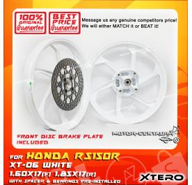 XTERO SPORT RIM W/FR DISC BRAKE PLATE XT-06 1.60X17(F) 1.85X17(R) RS150R WHITE