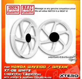 XTERO SPORT RIM XT-06 1.40X17(F) 1.60X17(R) WAVE100 WHITE