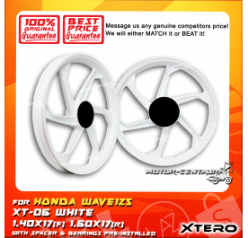 XTERO SPORT RIM XT-06 1.40X17(F) 1.60X17(R) WAVE125 WHITE