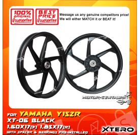 XTERO SPORT RIM XT-06 1.60X17(F) 1.85X17(R) Y15ZR BLACK