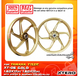 XTERO SPORT RIM XT-06 1.60X17(F) 1.60X17(R) Y15ZR GOLD