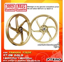 XTERO SPORT RIM XT-06 1.60X17(F) 1.85X17(R) Y15ZR GOLD