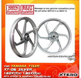 XTERO SPORT RIM XT-06 1.60X17(F) 1.85X17(R) Y15ZR SILVER