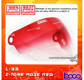 BOGO VISOR L33 (LTD) 2-TONE ROSE RED